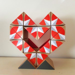qbox heart red white  front