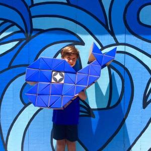 Qbox Ballena azul juego animal